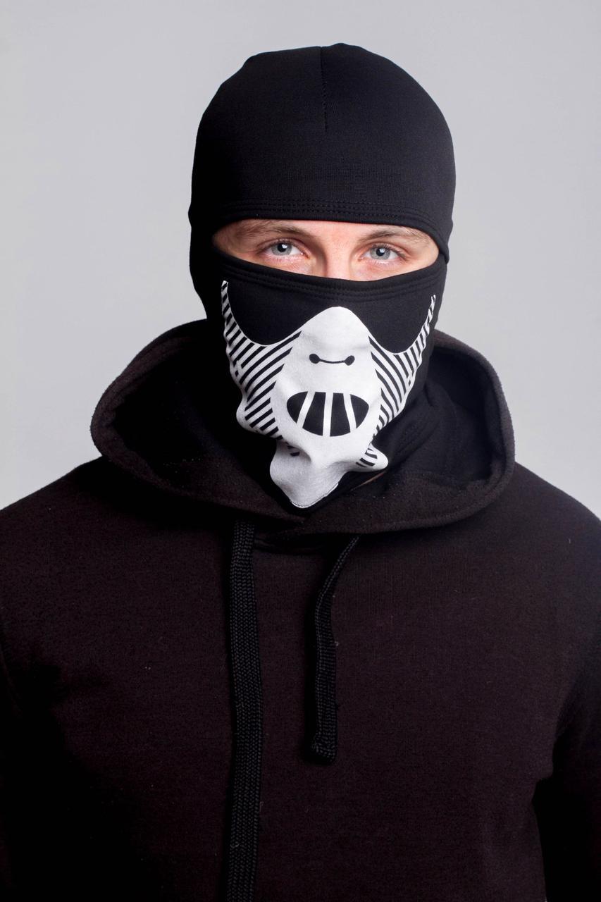 Зимняя балаклава маска с рисунком Ганнибал (на флисе)