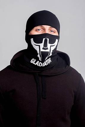 Зимняя балаклава маска с рисунком Гладиатор (на флисе), фото 2