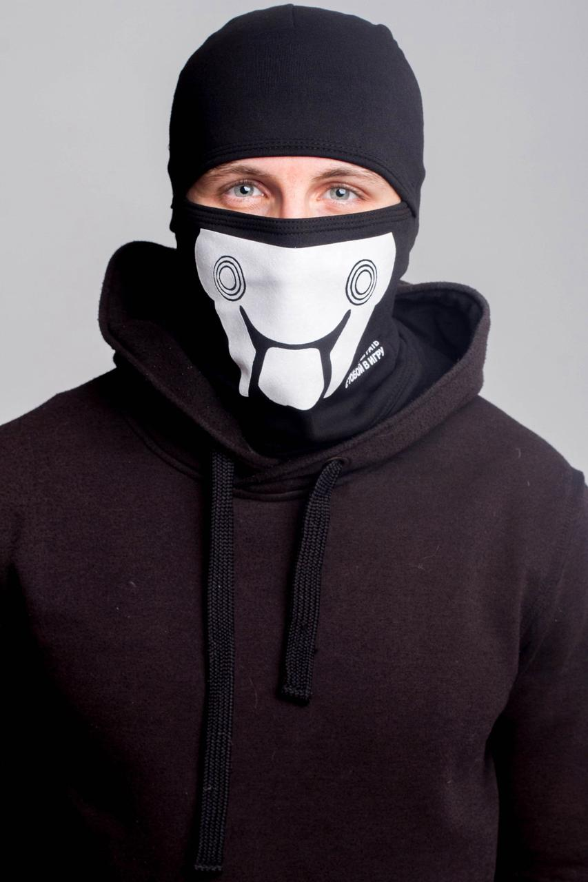 Зимняя балаклава маска с рисунком Пила (на флисе)