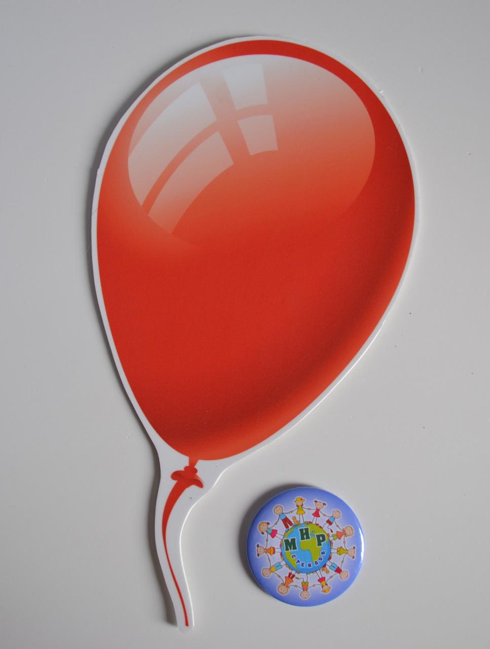 Шарик цветной маленький. Настенная декорация для детского сада.