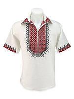 Летняя мужская сорочка со старинной вышивкой