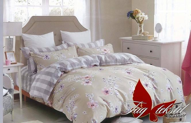 Полуторный комплект постельного белья с Цветами, Ранфорс, фото 2