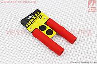 Рукоятки руля 130мм, силиконовые к-кт, красные SBG-S16180