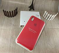 Оригинальный силиконовый чехол для Apple iPhone Xs Max Soft Touch - красный