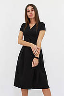 S (42-44) / Вишукане плаття на запах Meredis, чорний
