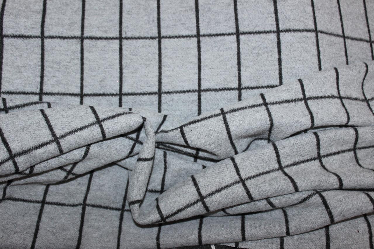 Светло серый. Ткань трикотаж зимний стрейч, ворсистость на лицевой стороне.теплый   пог. м. № 245, фото 1