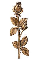 Декоративні накладки на памятник.Троянди з бронзи 29563/16*5