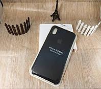Оригинальный силиконовый чехол для Apple iPhone Xs Max Soft Touch - черный