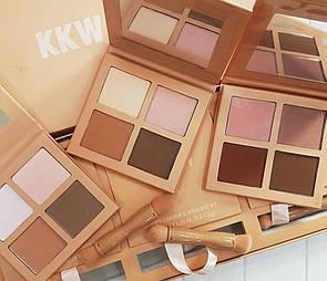 Подарунковий набір для контурування KKW Kylie 4 в 1.