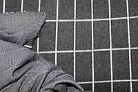 Темно серый. Ткань трикотаж зимний стрейч, ворсистость на лицевой стороне.теплый   пог. м. № 246, фото 1