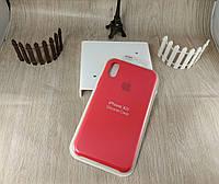 Оригинальный силиконовый чехол для Apple iPhone Xr - Soft Touch - красный
