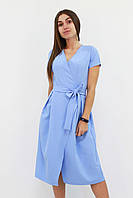 S | Вишукане плаття на запах Meredis, блакитний