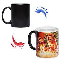 Чашка хамелеон Год собаки 330мл, фото 1