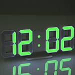 Часы электронные настольные настенные LED с будильником и термометром Caixing CX-2218 White, Blue, Green