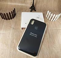 Оригинальный силиконовый чехол для Apple iPhone Xr - Soft Touch - черный