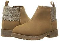 Ботиночки OshKosh коричнево рыжие EUR 20 23 стелька 13 14,7 ботинки для девочки