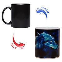 Чашка хамелеон Лунная волчица 330мл