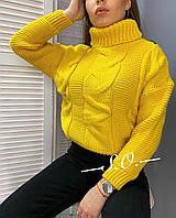 Стильный женский базовый свитер крупной вязки Разные цвета