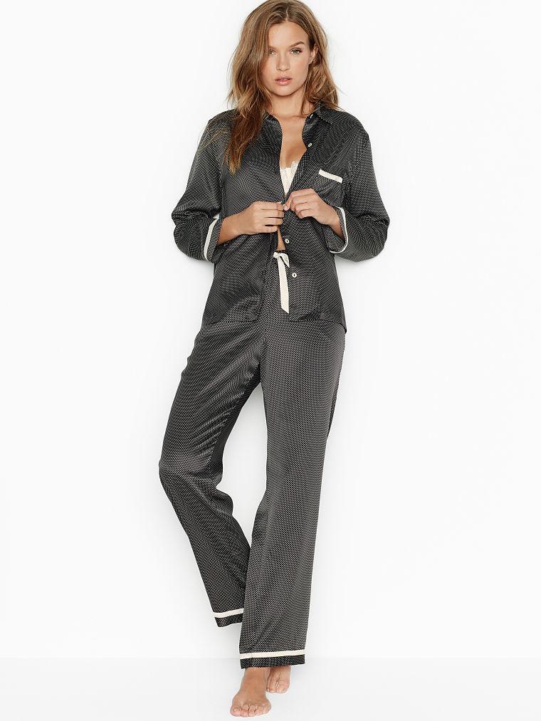 Пижама сатиновая M из новой коллекции Victoria s Secret (Виктория Сикрет США) халат оригинал HL3