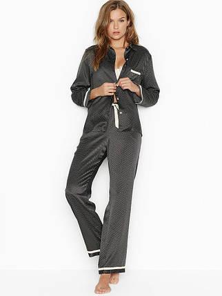 Пижама сатиновая M из новой коллекции Victoria s Secret (Виктория Сикрет США) халат оригинал HL3, фото 2