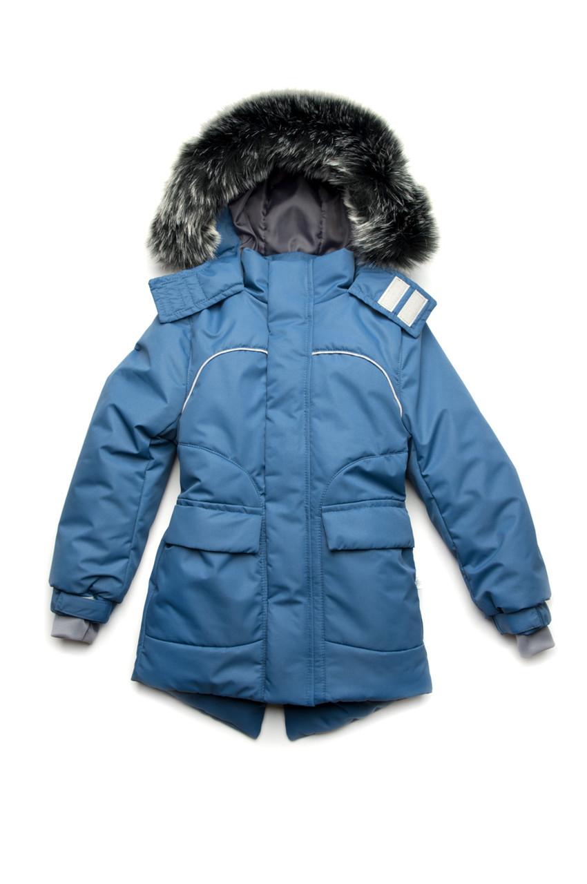 Куртка парка зимняя синяя (унисекс)