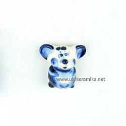Мышка Магнит малый 5х4,5 см - сувенир гжель украинского производства