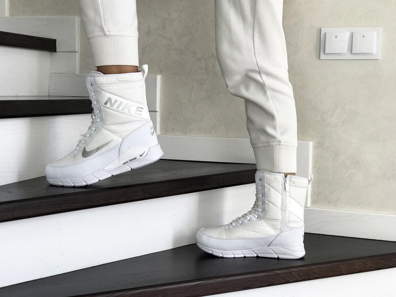 Зимние сапоги Nike, женские сапоги.ТОП КАЧЕСТВО!!! Реплика класса люкс (ААА+)
