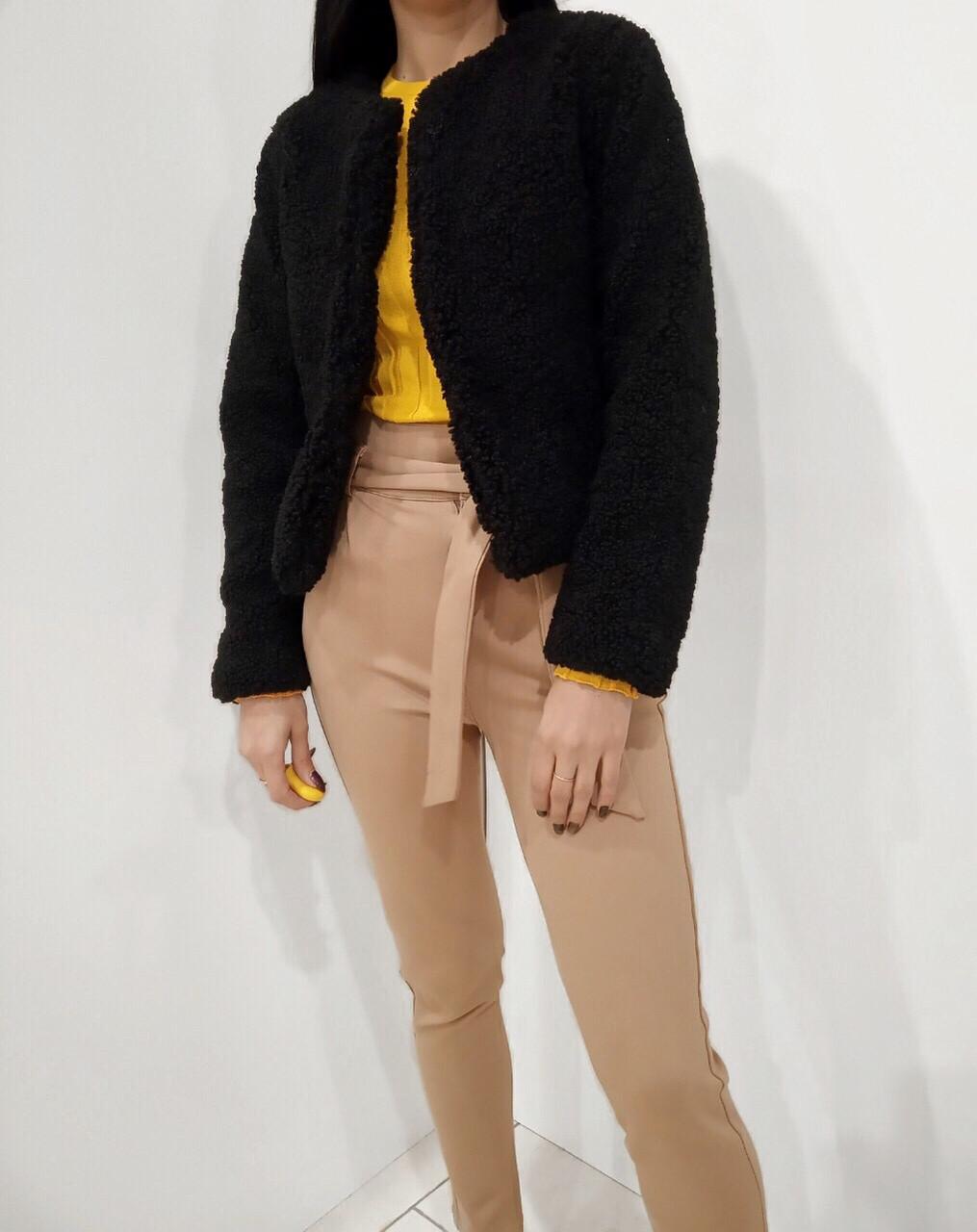 Женская шуба из экомеха черного цвета XL  - купить со скидкой