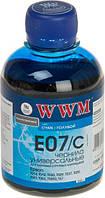 Чернила WWM Epson Stylus Universal, Cyan, 200 г (E07/C)