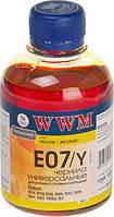 Чернила WWM Epson Stylus Universal, Yellow, 200 г (E07/Y)