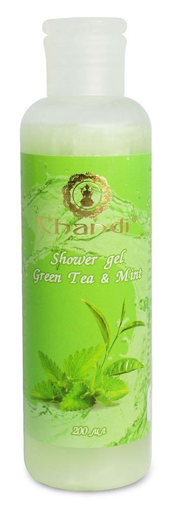 "Индийский гель для душа """"Green Tea & Mint"" Chandi, 200мл"