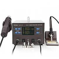 Паяльная станция BAKKU BA-8701D цифровая индикация, паяльник, фен , 4.39 кг