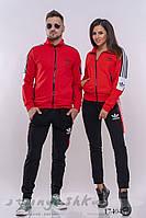 Комплект мужского и женского костюма красный с черным, фото 1