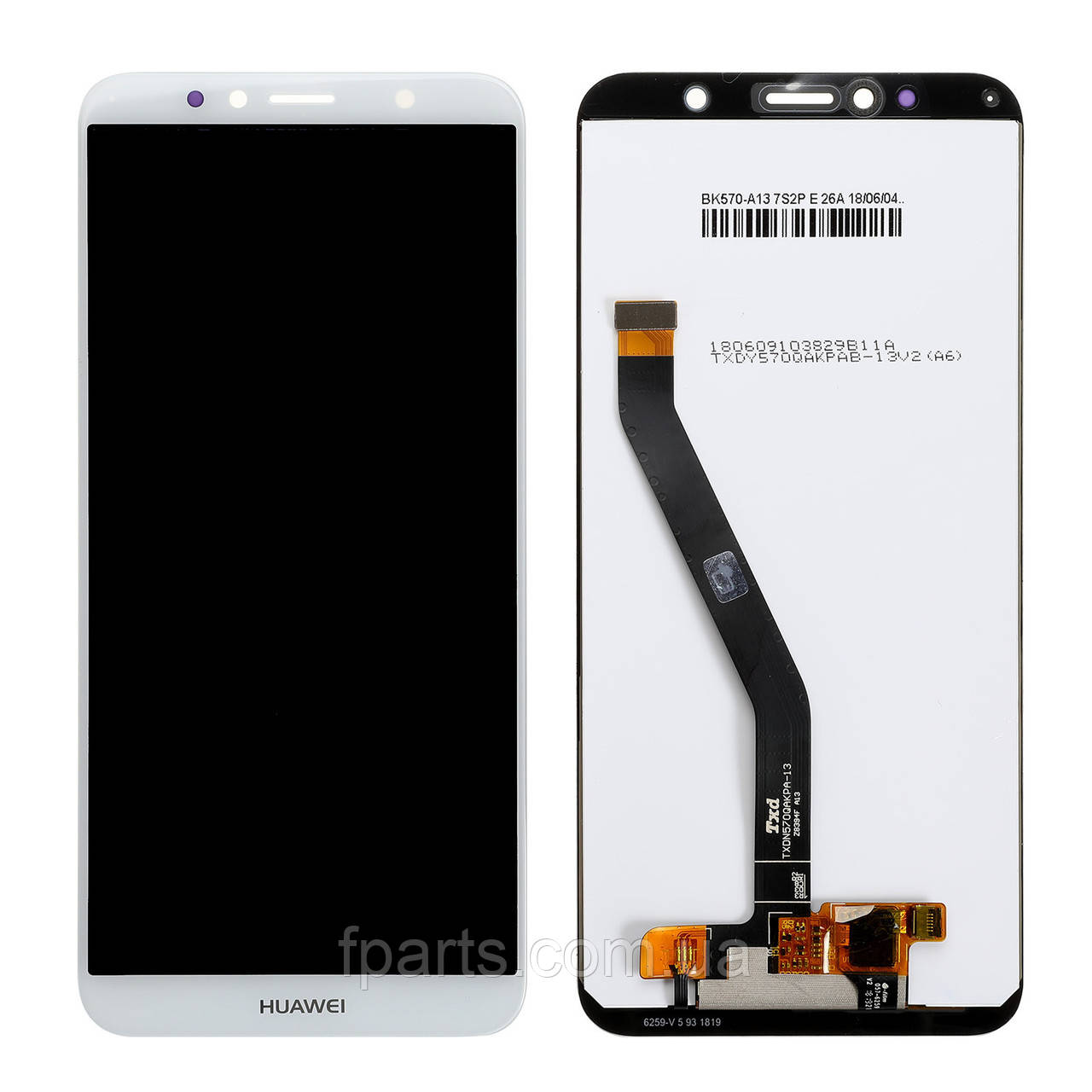 Дисплей для Huawei Y6 2018 (ATU-L21) Y6 Prime 2018 (ATU-L31) с тачскрином, White (Original PRC)