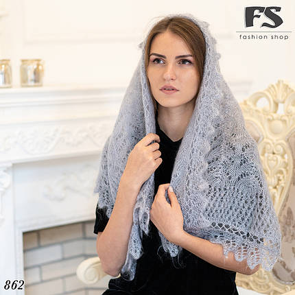 Женский стильный палантин пуховой Снежана, фото 2
