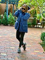 """Стеганая зимняя женская куртка """"Скай"""" с карманами и капюшоном"""