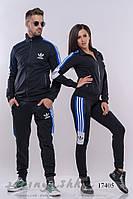 Комплект мужского и женского костюма черный с синим, фото 1