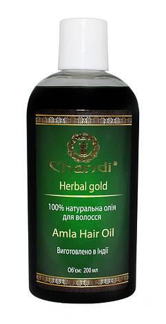"""Натуральное масло для волос """"Амла"""" Chandi, 200мл, фото 2"""
