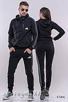 Комплект мужского и женского костюма черным с графитом, фото 1