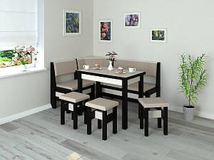 Кухонний куточок+стіл+табурети Туніс Летро