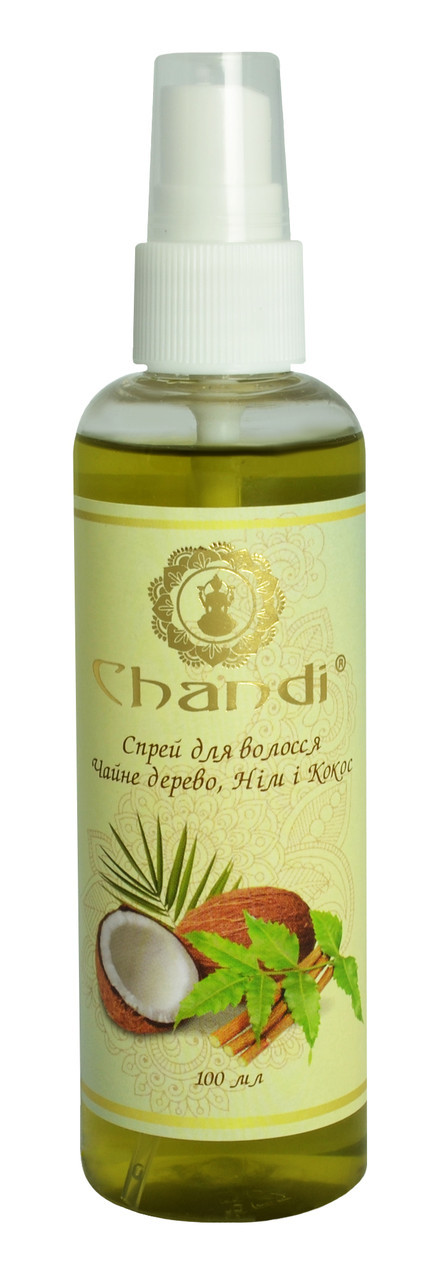 "Спрей для волос ""Чайное дерево, Ним и Кокос"" Chandi, 100мл"