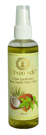 "Спрей для волос ""Чайное дерево, Ним и Кокос"" Chandi, 100мл, фото 2"