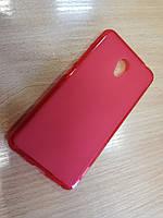 Оригинальный красный матовый силиконовый чехол для Meizu M5C