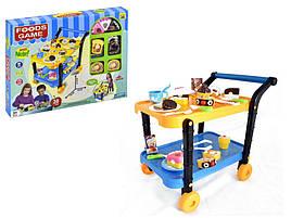 Игровой набор Сладости с сервировочным столиком, продукты на липучках