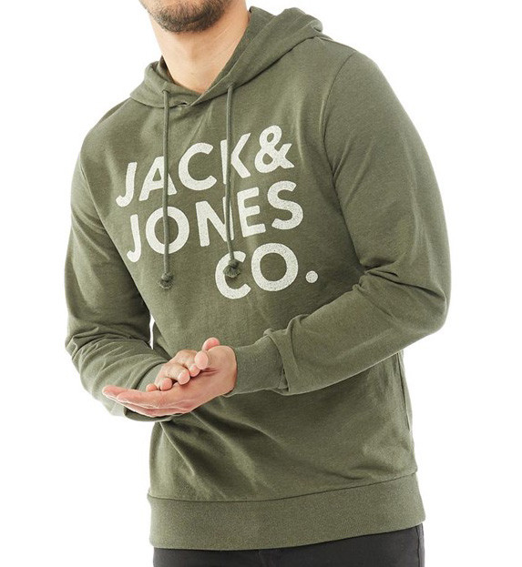 Оригинальная молодежная хлопковая кенгурушка Jack&Jones Jorinner sweat Hoodie