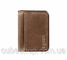 Кожаная обложка для прав или id-паспорта 4.0 (темно-коричневая)