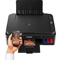 МФУ струйное цветное Canon G3415 (2315C029), Black, WiFi, 1200x4800 dpi, до 8.8/5 стр./мин, ЖК-экран