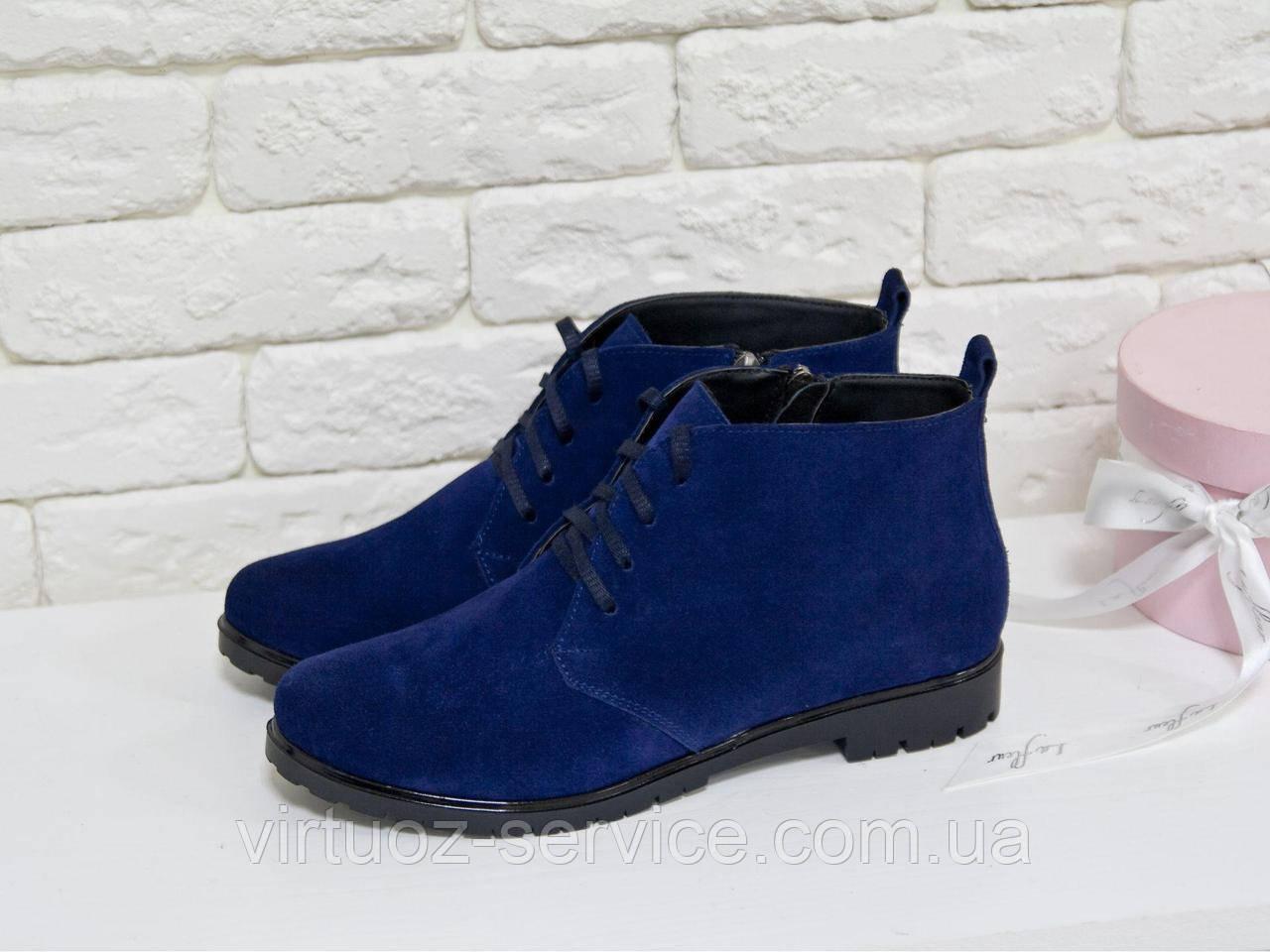 Ботинки женские Gino Figini Б-152-02 из натуральной замши 38 Синий