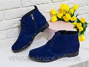 Ботинки женские Gino Figini Б-152-02 из натуральной замши 38 Синий, фото 2
