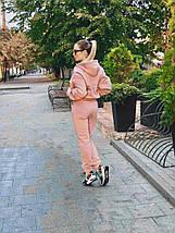 """Теплый спортивный женский костюм """"Стеф"""" с капюшоном, фото 3"""